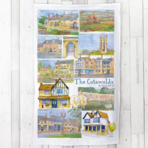 Emma Ball Cotswold Tea Towel - Fillet and Bone, Gifts and Hampers, Cotswold, Fine Foods and Drink, Christmas Gifts