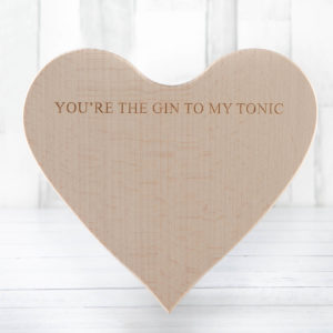 Gin and Tonic Heart Chopping Board - Fillet and Bone, Gifts and Hampers, Cotswold, Fine Foods and Drink, Christmas Gifts