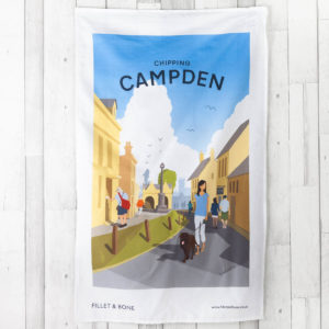 F&B Campden Tea Towel - Fillet and Bone, Gifts and Hampers, Cotswold, Fine Foods and Drink, Christmas Gifts